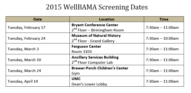 Spring 2015 WB dates 2.9.15