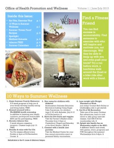 Monthly Newsletter | Monthly Newsletter Health Promotion Wellness The University Of