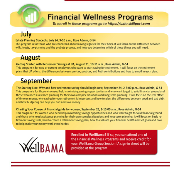 financial wellness july